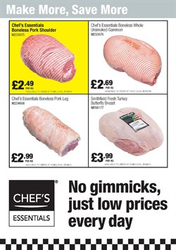 Turkey offers in the Booker Wholesale catalogue in London