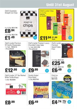 Pizza offers in the Booker Wholesale catalogue in Birkenhead