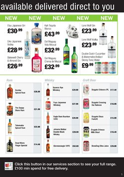 Beer offers in the Booker Wholesale catalogue in London