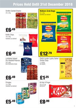 Bags offers in the Booker Wholesale catalogue in Kettering