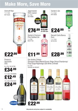 Gin offers in the Booker Wholesale catalogue in York