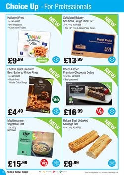Pizza offers in the Booker Wholesale catalogue in St Helens