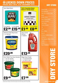 Biscuits offers in the Booker Wholesale catalogue in London