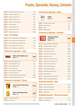 Peanut butter offers in the Booker Wholesale catalogue in London