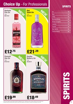 Vodka offers in the Booker Wholesale catalogue in London