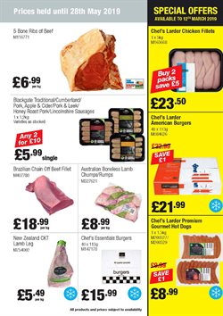 Chicken offers in the Booker Wholesale catalogue in London