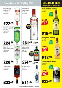 Gin offers in the Booker Wholesale catalogue in Cannock
