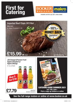 Booker Wholesale offers in the Booker Wholesale catalogue ( 18 days left)