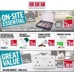 Electronics offers in the City Electrical Factors catalogue ( Expires tomorrow)