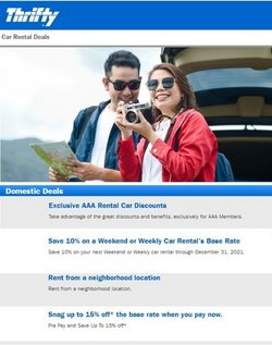 Thrifty Car Rental offers in the Thrifty Car Rental catalogue ( 15 days left)