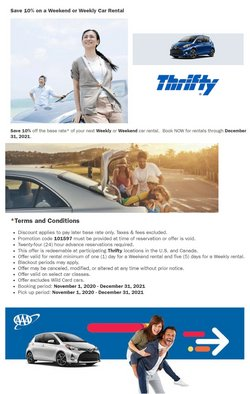 Thrifty Car Rental offers in the Thrifty Car Rental catalogue ( More than a month)