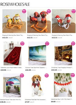 Department Stores offers in the Rose Wholesale catalogue ( 29 days left)