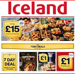 Iceland offers in the Bootle catalogue