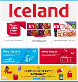 Iceland offers in the Cannock catalogue