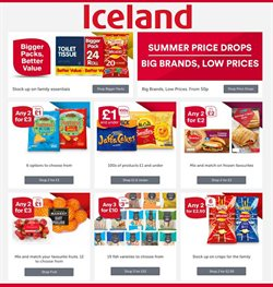 Iceland offers in the London catalogue