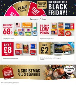 Supermarkets offers in the Iceland catalogue ( Published today  )