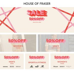 Department Stores offers in the House of Fraser catalogue ( Published today)