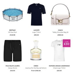 Lacoste offers in the House of Fraser catalogue ( 5 days left)