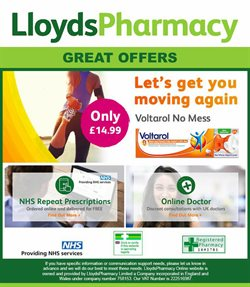 Lloyds Pharmacy offers in the Barking-Dagenham catalogue