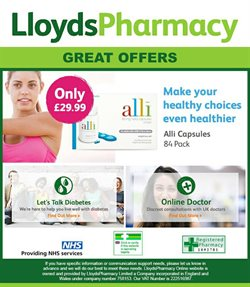 Lloyds Pharmacy offers in the London catalogue