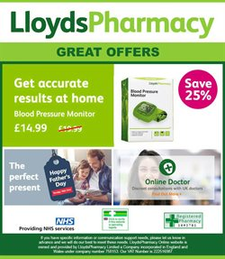Pharmacy, Perfume & Beauty offers in the Lloyds Pharmacy catalogue in Bristol