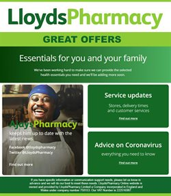 Pharmacy, Perfume & Beauty offers in the Lloyds Pharmacy catalogue in Birmingham ( 1 day ago )