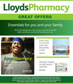 Pharmacy, Perfume & Beauty offers in the Lloyds Pharmacy catalogue in Hastings ( 16 days left )