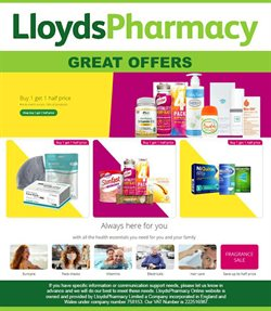 Pharmacy, Perfume & Beauty offers in the Lloyds Pharmacy catalogue ( 2 days left )