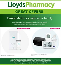Pharmacy, Perfume & Beauty offers in the Lloyds Pharmacy catalogue in London ( More than a month )