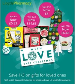 Lloyds Pharmacy offers in the Lloyds Pharmacy catalogue ( 5 days left)