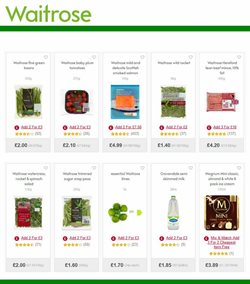 Baby offers in the Waitrose catalogue in London