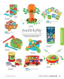 Puzzles offers in the Early Learning Centre catalogue in London