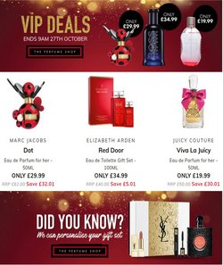 Pharmacy, Perfume & Beauty offers in the The Perfume Shop catalogue ( Expires today)