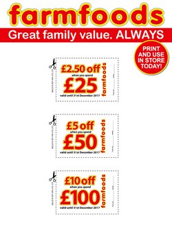 Farmfoods offers in the Huddersfield catalogue