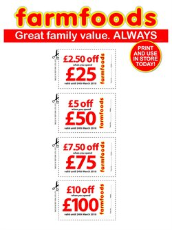 Farmfoods offers in the Glasgow catalogue