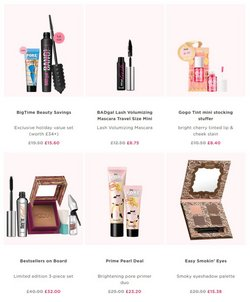 Offers of Eyeshadow in Benefit Cosmetics