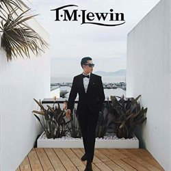Suit offers in the T.M. Lewin catalogue in London