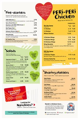 Nando's offers in the London catalogue