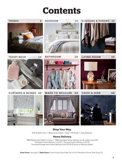 Bedroom offers in the Dunelm Mill catalogue in London