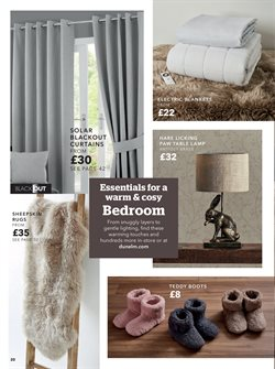 Lighting offers in the Dunelm Mill catalogue in London