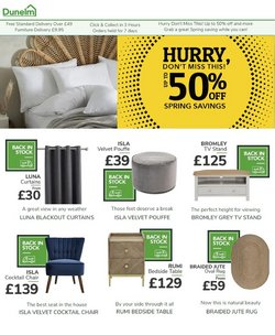 Home & Furniture offers in the Dunelm catalogue ( 6 days left )