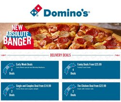 Domino's Pizza catalogue ( 3 days ago )