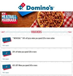 Restaurants offers in the Domino's Pizza catalogue ( 13 days left)