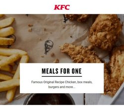 KFC offers in the KFC catalogue ( 27 days left)