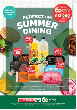 Supermarkets offers in the Spar catalogue ( Published today)