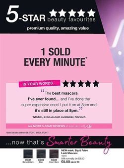 Mascara offers in the Avon catalogue in Stoke-on-Trent