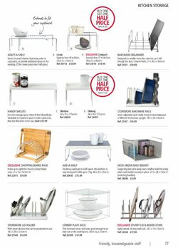 Shelving offers in the Lakeland catalogue in Liverpool