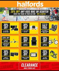 Cars, motorcycles & spares offers in the Halfords catalogue in Aberdeen