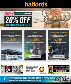 Cars, motorcycles & spares offers in the Halfords catalogue in Warrington