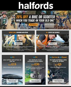 Cars, motorcycles & spares offers in the Halfords catalogue in Dartford